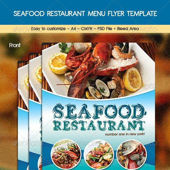 Seafood Restaurant Menu Flyer