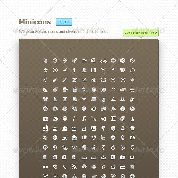 Minicons Pack 2 (170 vector icons + PSD/CSH)