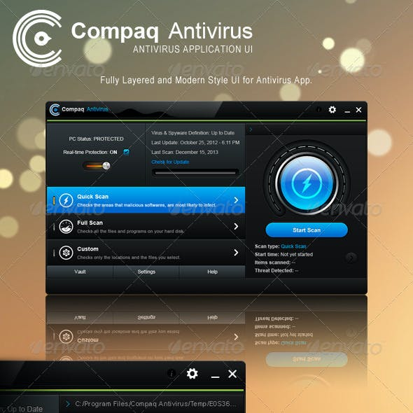 Compaq Antivirus App UI