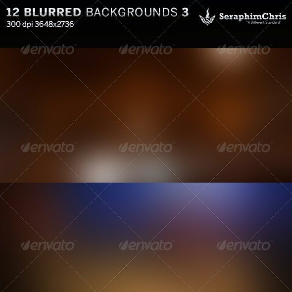 12 Abstract Blurred HD Backgrounds Set 3