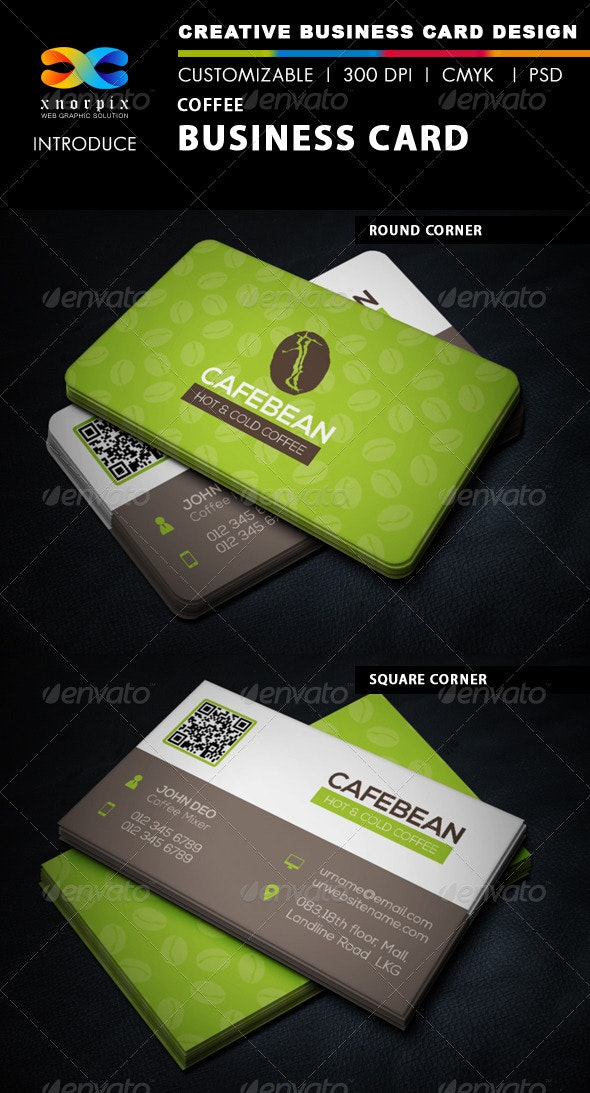 Coffee Business Card - Corporate Business Cards