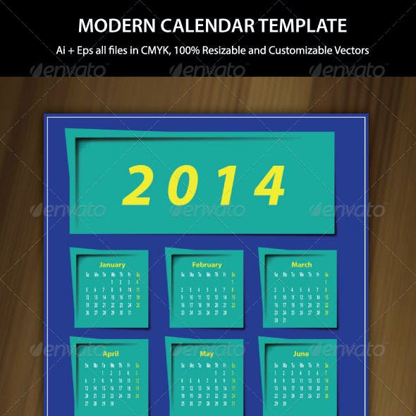 Exclusive Wall Calendar Template