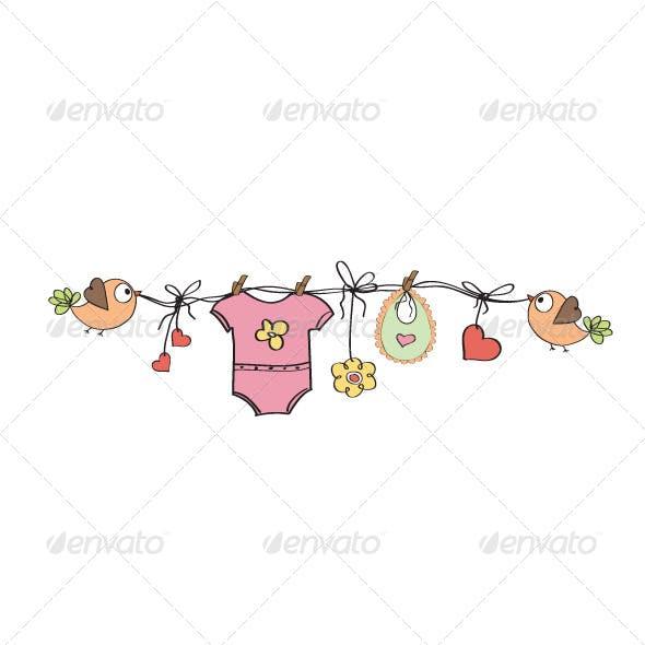 Baby Girl Ornament