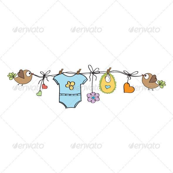 New Baby Boy Wire Ornament