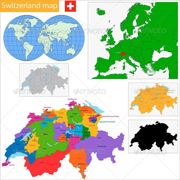 Swiss Confederation Map