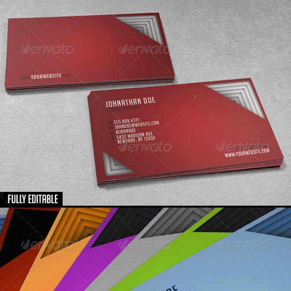 3D Paper Stack Business Card