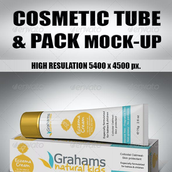 Cosmetic Tube & Pack Mock-Up