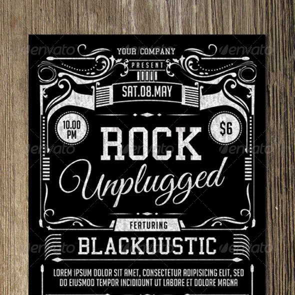 Rock Unplugged Flyer Template