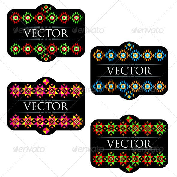 Traditional Mexican Product Labels Set