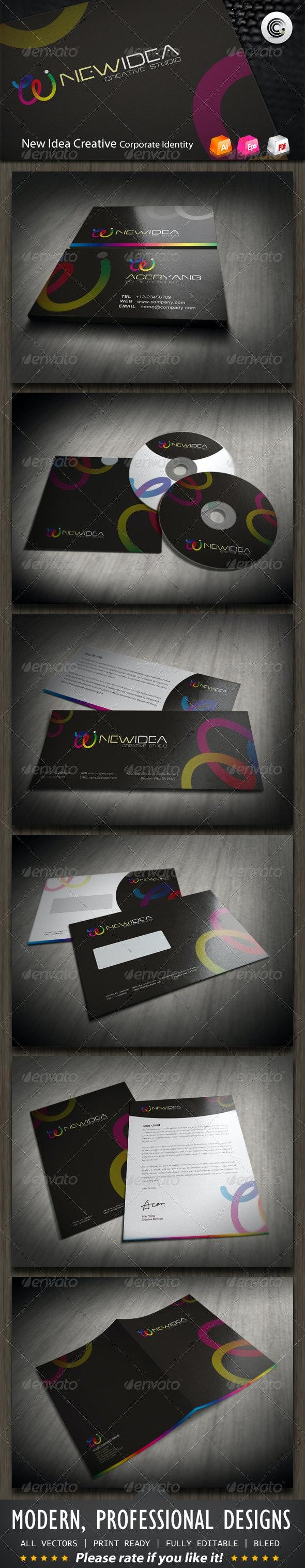 New Idea Creative Studio Corporate Identity - Stationery Print Templates