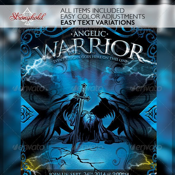 Angelic Warrior Church Flyer Template