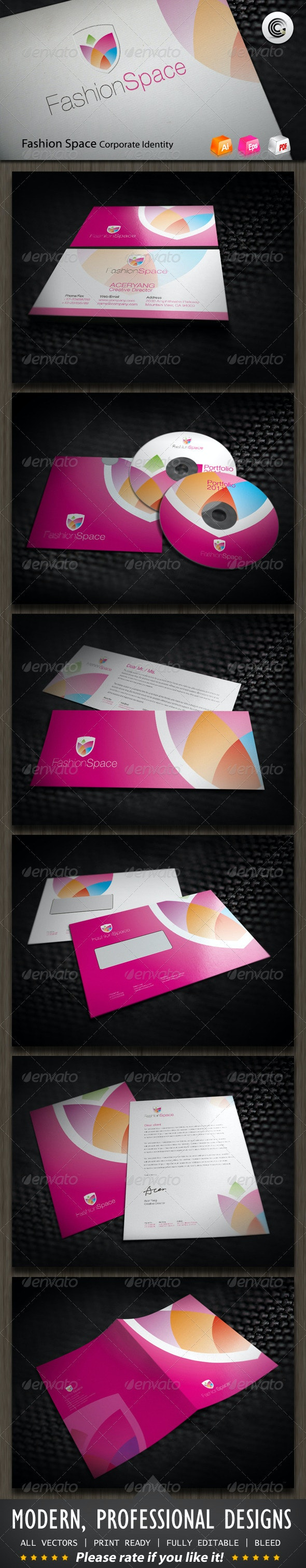 Fashion Space Corporate Identity - Stationery Print Templates