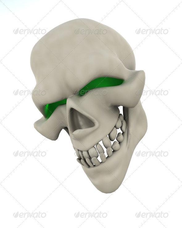 Evil Halloween Skull - 3D Backgrounds