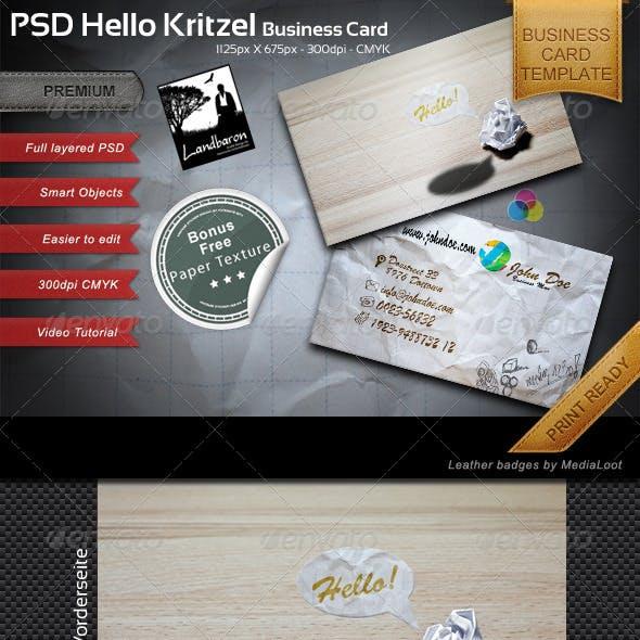 Kritzel Business Card Template