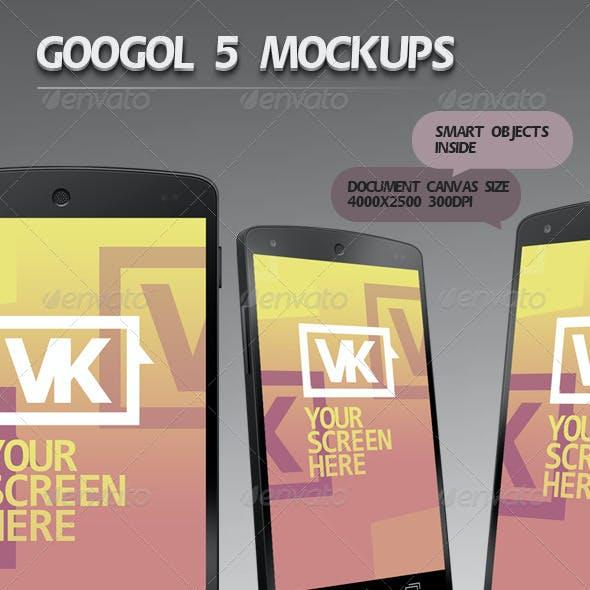 Googol 5 Mockups