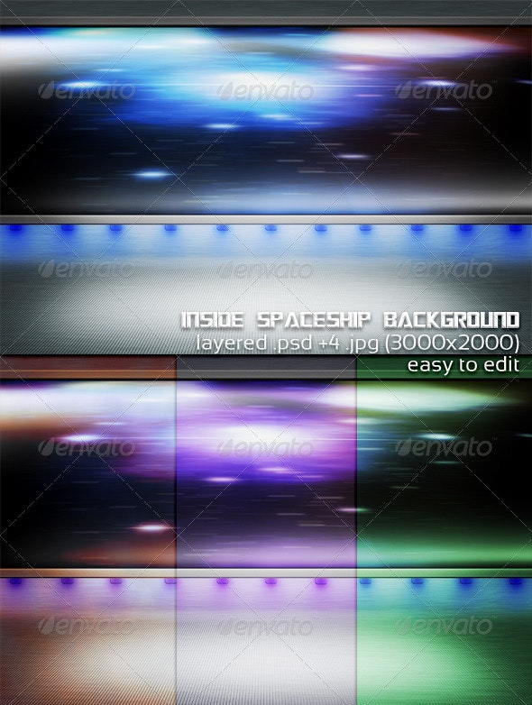 Inside Spaceship Background - 3D Backgrounds