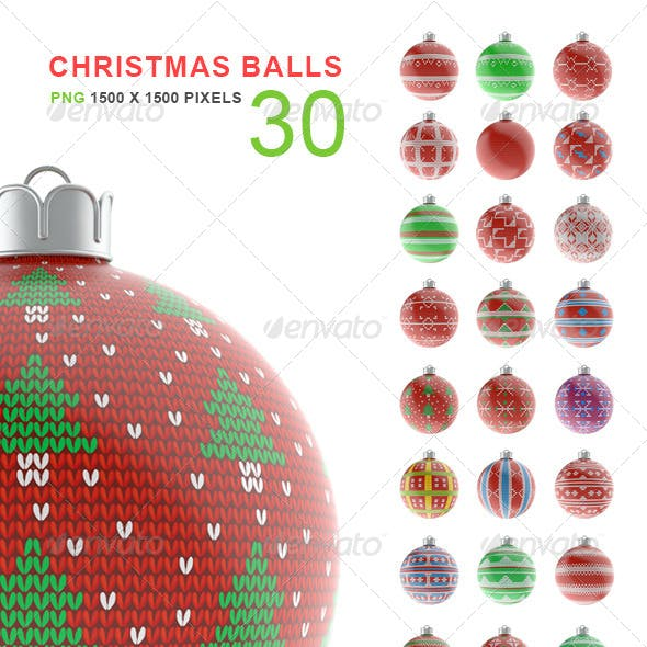 Christmas Balls Set of 30 Vol.2