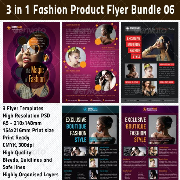 3 in 1 Fashion Product Flyer Bundle 06