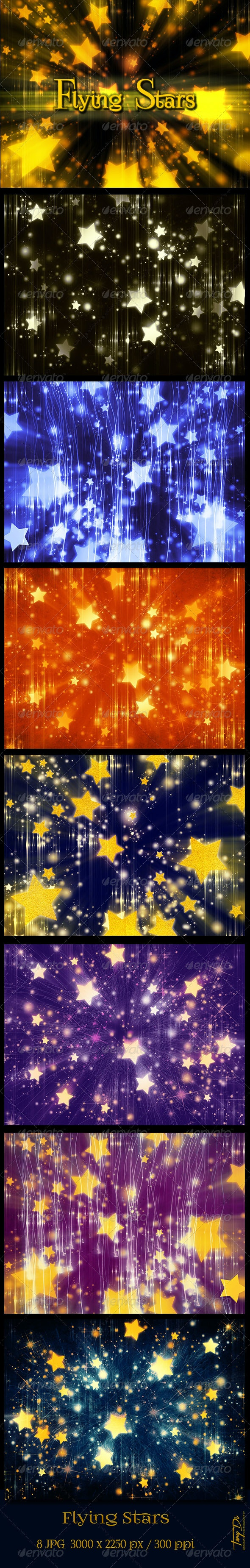 Flying Stars Festive Backgrounds - Miscellaneous Backgrounds