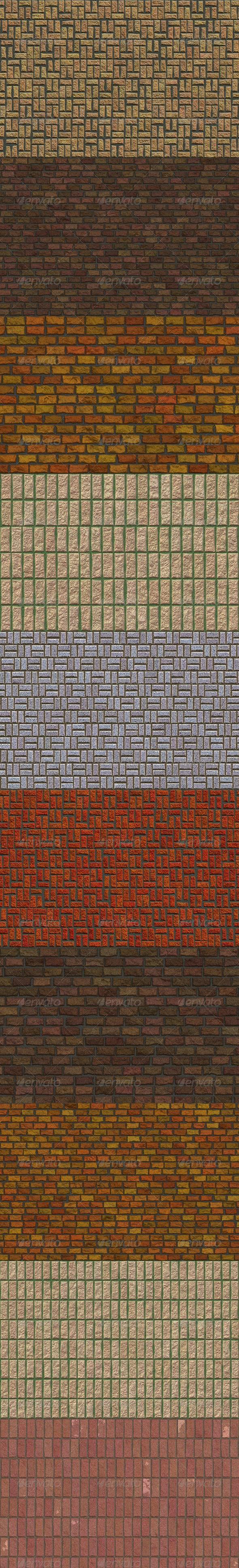 10 Brick Wall Textures Vol.1 - Stone Textures