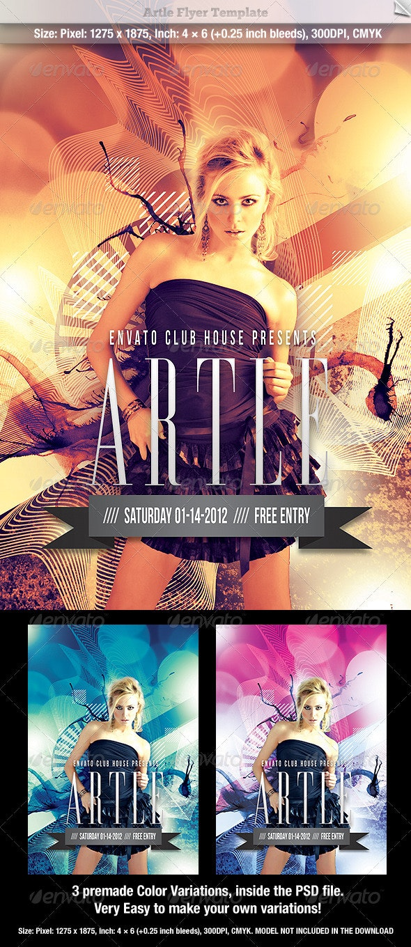 Artle Flyer Template - Clubs & Parties Events