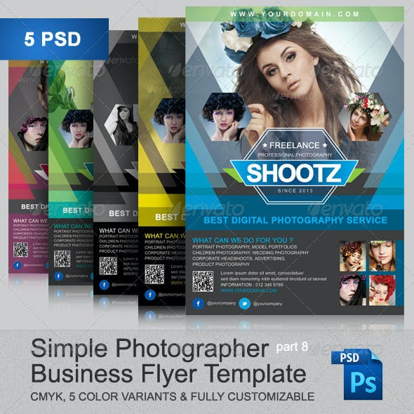 Simple Photographer Flyer Template