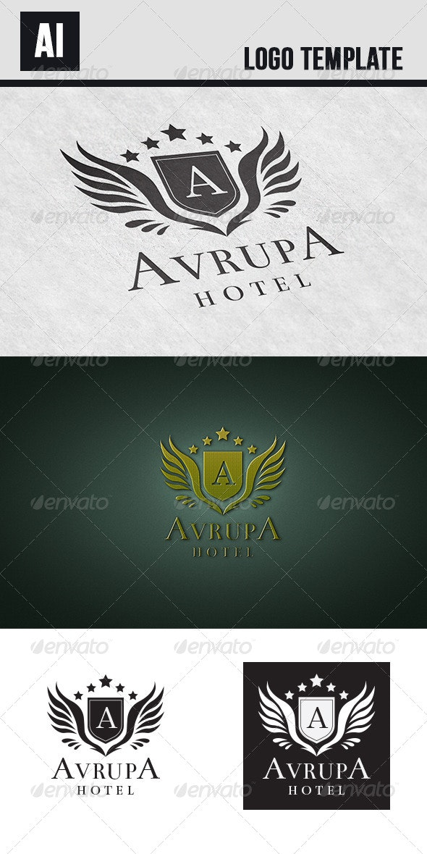 Avrupa Hotel Logo - Crests Logo Templates