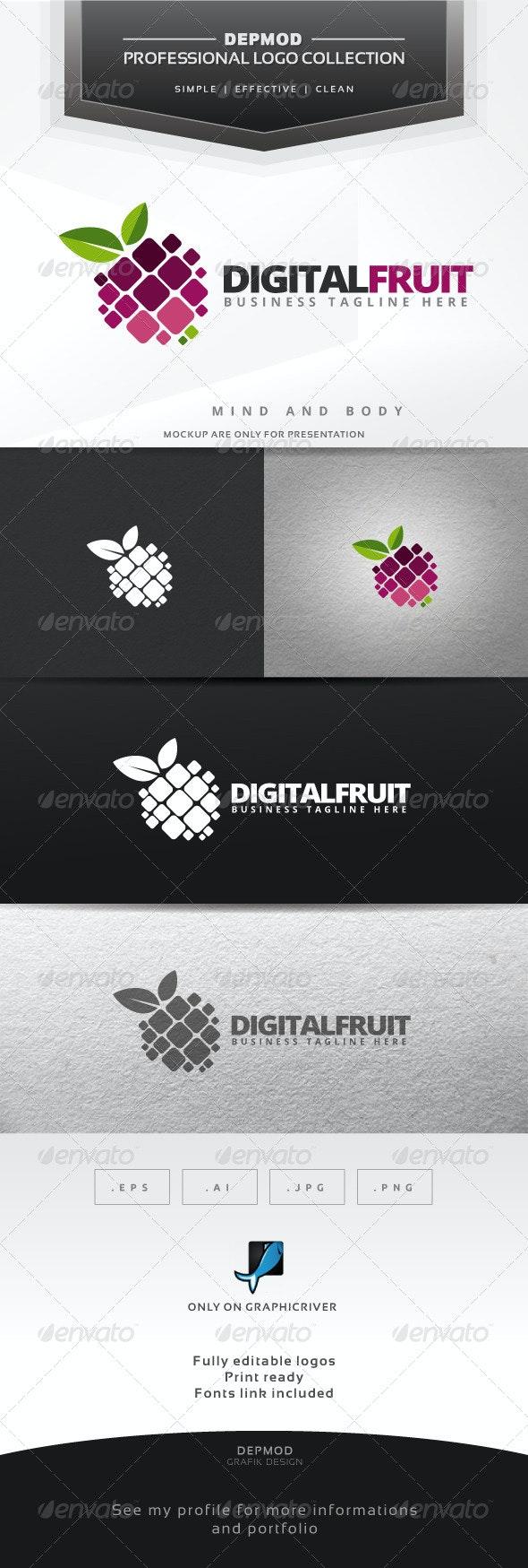 Digital Fruit Logo - Symbols Logo Templates