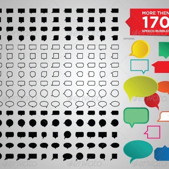 More Than 170 Speech Bubbles