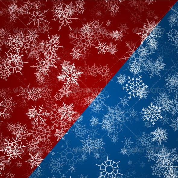 Wintry Snowflake Backgrounds