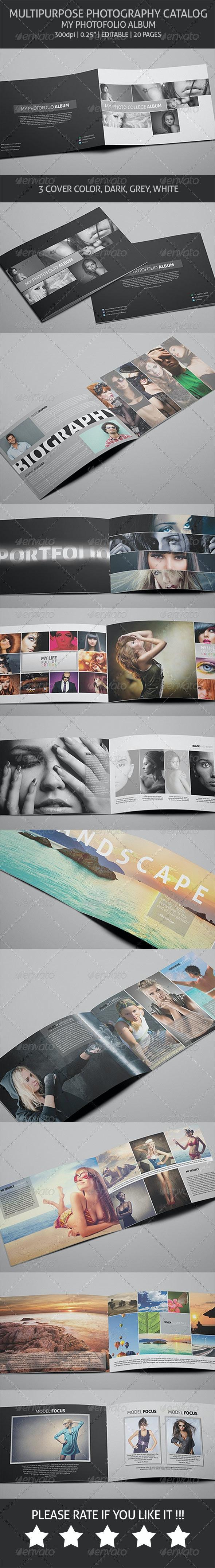 Photography Album - Multipurpose Catalog - Photo Albums Print Templates