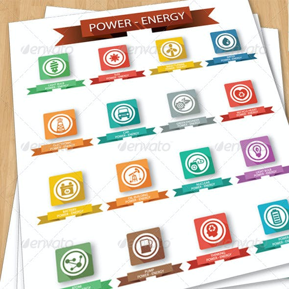 Power & Energy Icons