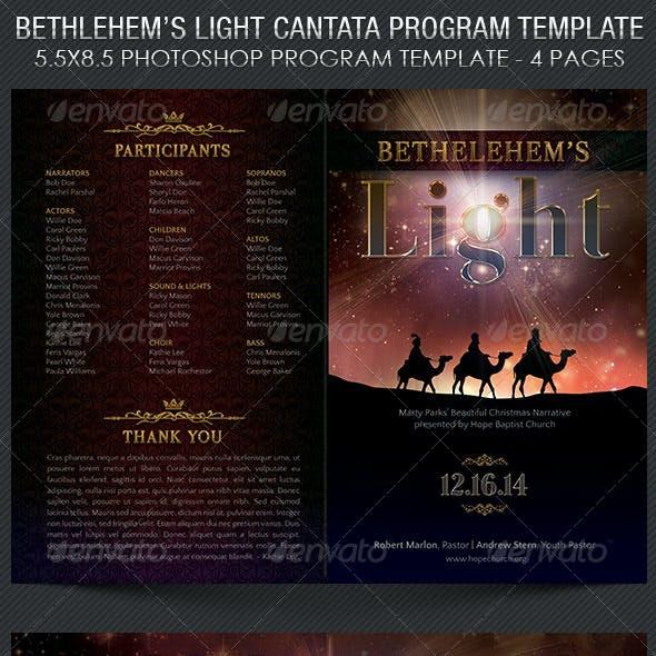 Bethlehem Light Cantata Program Template