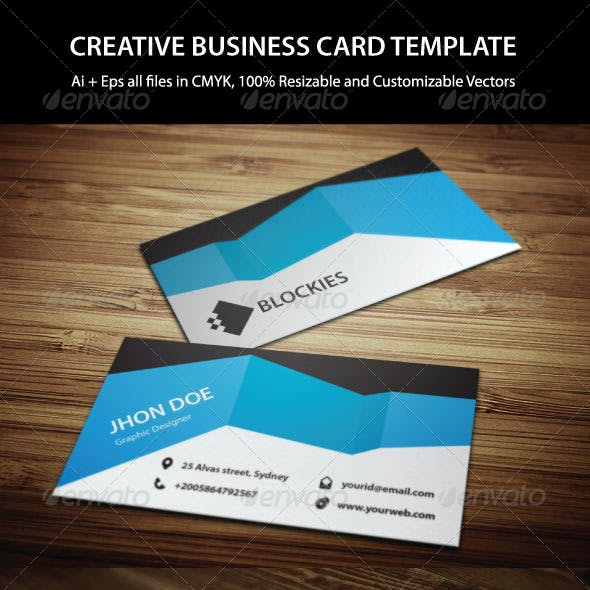 2 Colors Creative Business Card