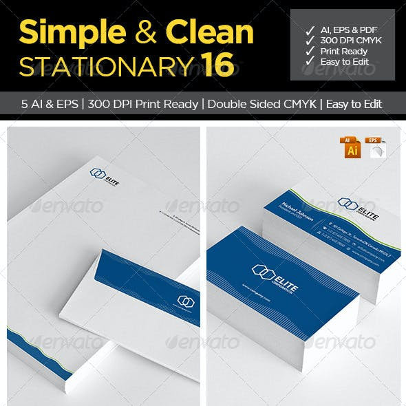 Simple and Clean Stationary 16