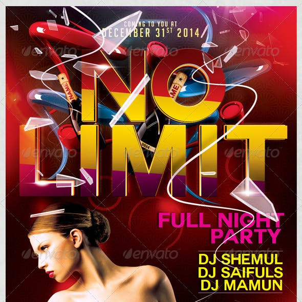 No Limit Party Flyer Template