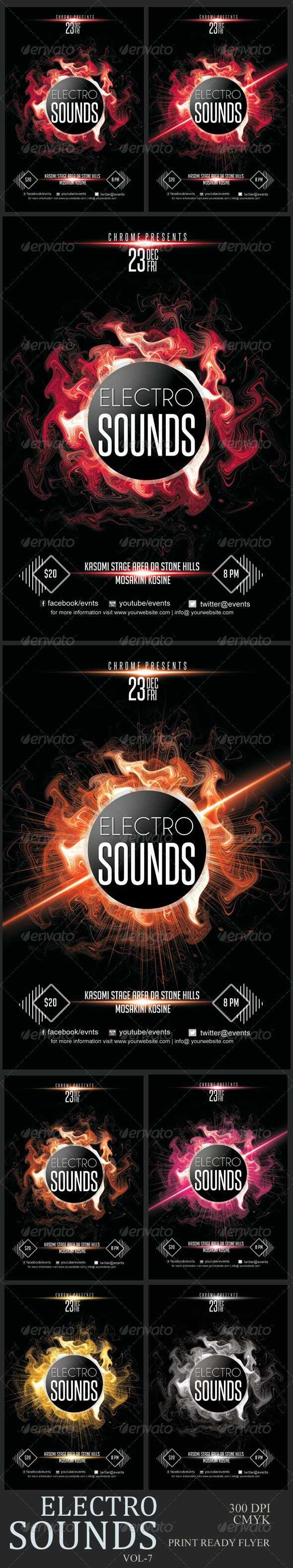 Electro Sounds Futuristic Flyer 7 - Clubs & Parties Events