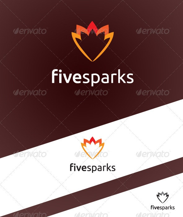 FiveSparks Logo Template - Vector Abstract