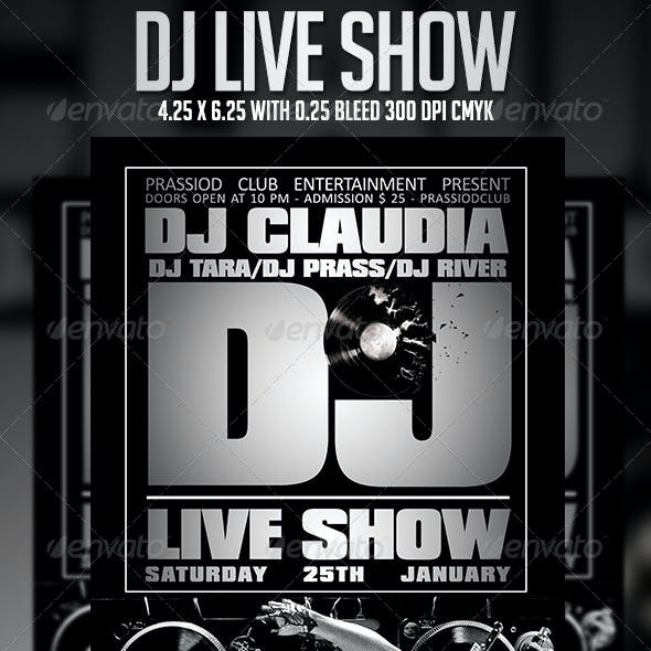 DJ Live Show Flyer Template