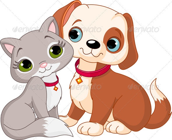 Cat and dog - Animals Characters
