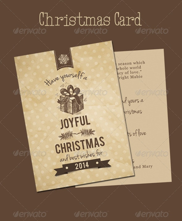 Christmas Card - Cards & Invites Print Templates