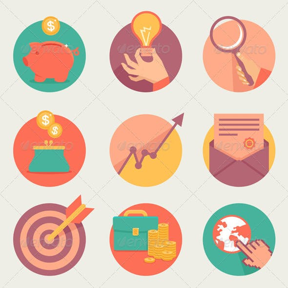 Vector Business and Finance Icons