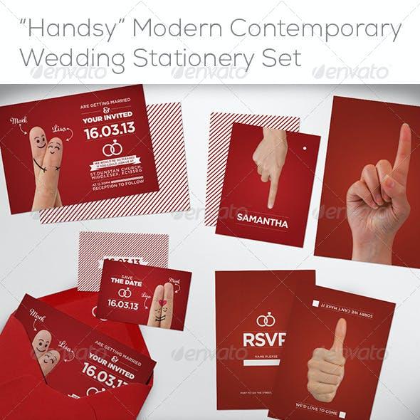 """Handsy"" Complete Wedding Stationery Set"