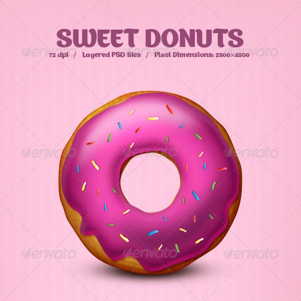 Sweet Donuts - PSD