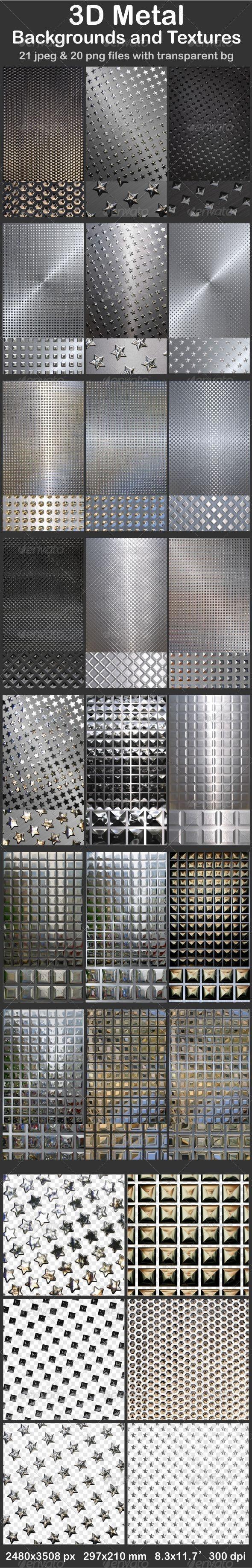 3D Metal Backgrounds and Textures - Metal Textures