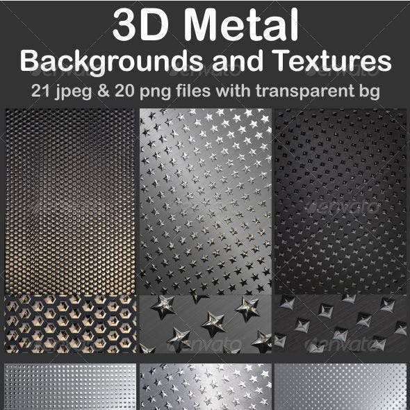 3D Metal Backgrounds and Textures