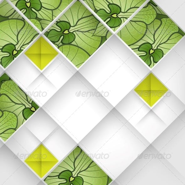 Abstract 3D Geometrical Design.