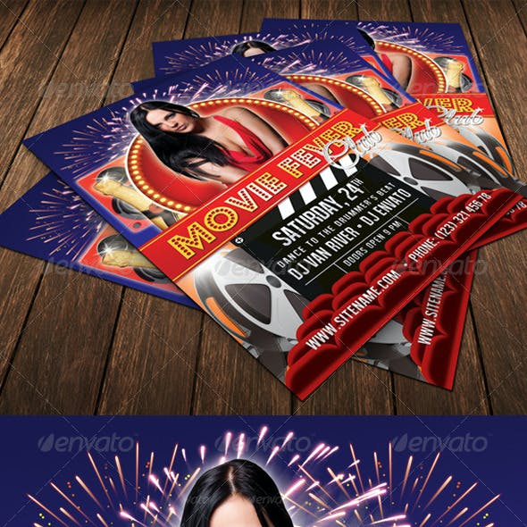 Movie Club Flyer Template 17