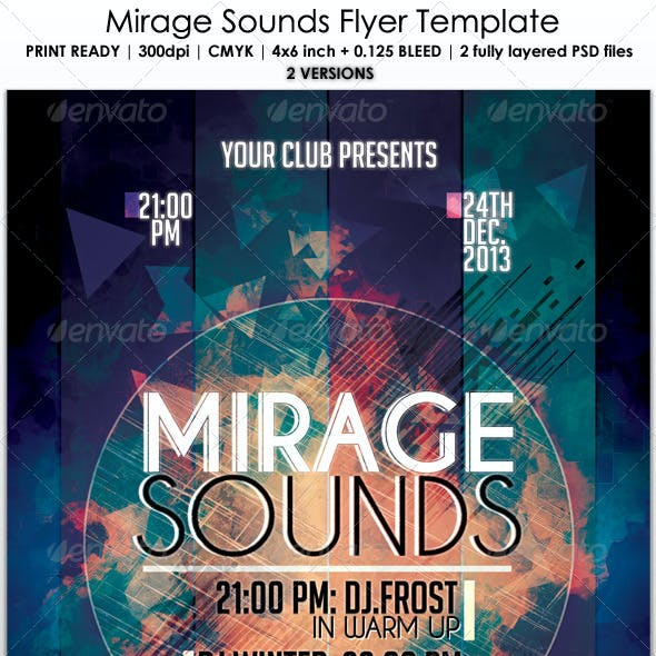 Mirage Sounds Flyer Template