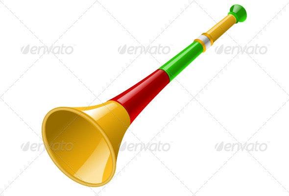 Vuvuzela Vector - Objects Vectors